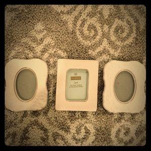 Other - 💘Three ceramic mini picture frames